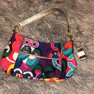 Coach poppy signature groovy shoulder swing bag